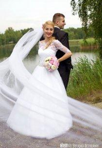 Pani Marzena w sukni własnego pomysłu :)