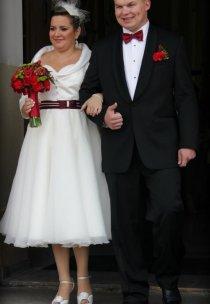 Pani Aneta zrealizował dzięki naszemu salonowi swój pomysł na suknię ślubną :)